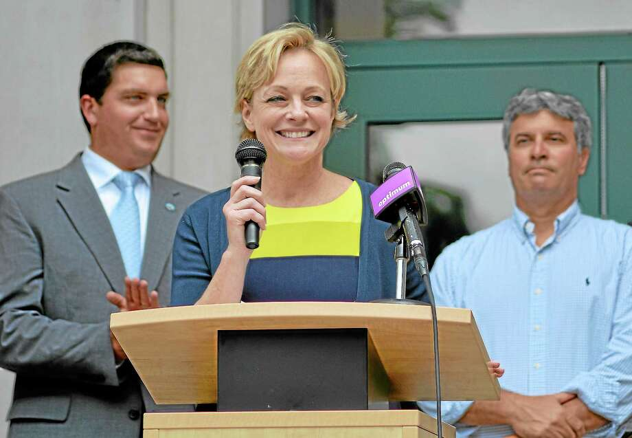 Elinor Carbone during her run to become Torrington's mayor. Photo: Register Citizen File Photo