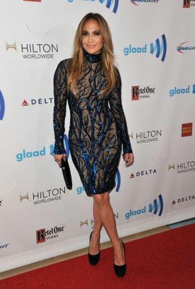 Jennifer Lopez arrives at the 25th Annual GLAAD Media Awards on Saturday, April 12, 2014. (Richard Shotwell/Invision/AP) Photo: Richard Shotwell/Invision/AP / AP2014