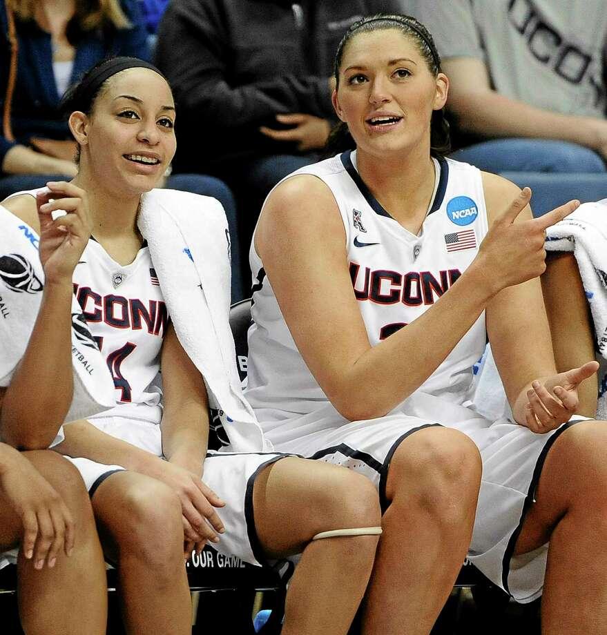UConn seniors Bria Hartley and Stefanie Dolson joined teammate Breanna Stewart on the WBCA All-American team. Photo: The Associated Press File Photo  / FR125654 AP