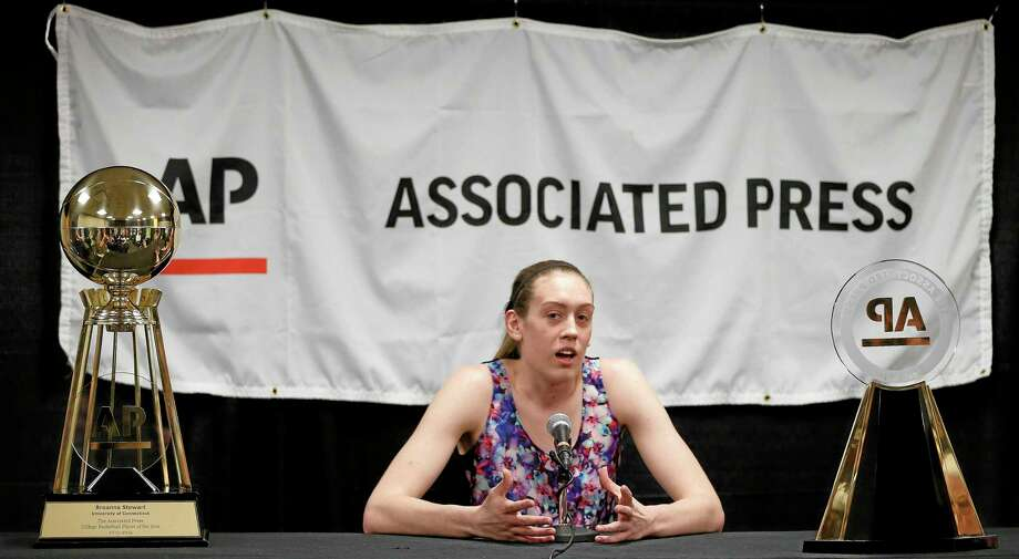 Breanna Stewart, The Associated Press Player of the Year, and UConn will take on Chiney Ogwumike, the AP player of the year runner-up, and Stanford on Sunday in a national semifinal at the Final Four in Nashville, Tenn. Photo: Mark Humphrey — The Associated Press  / AP