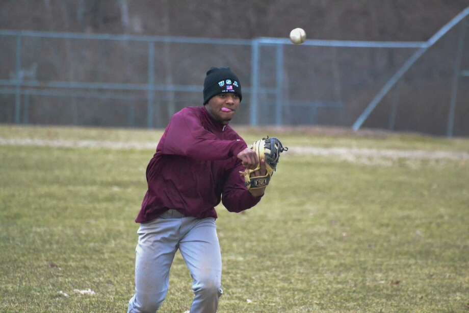 Torrington's Stanley Rijo is back at shortstop for the Red Raiders this season. Photo: Pete Paguaga — Register Citizen