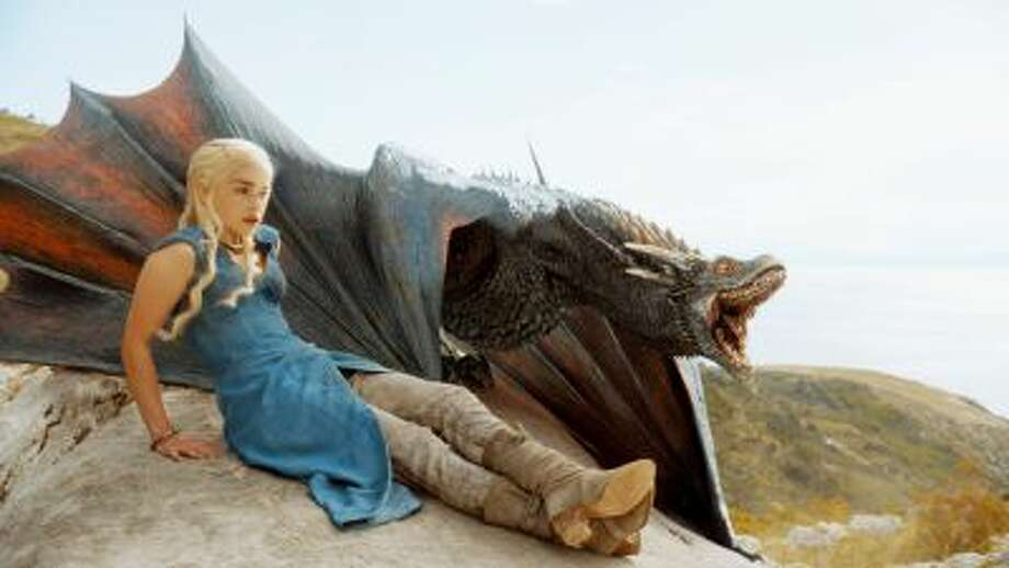 """Emilia Clarke portrays Daenerys Targaryen in HBO's """"Game of Thrones"""" series. Illustrates TV-THRONES (category e), by Barry Schwartz (c) 2014, The Washington Post. Moved Wednesday, April 3, 2014. (MUST CREDIT: HBO) Photo: The Washington Post / The Washington Post"""
