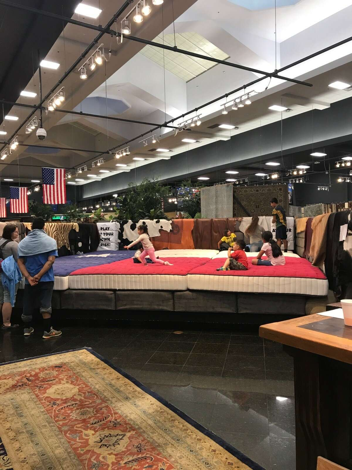 """On Sunday Gallery Furniture opened its I-45 North (between Tidwell and Parker) and Grand Parkway locations as shelters for Tropical Storm Harvey families. Owner Jim """"Mattress Mack"""" McIngvale is already known in the area for special promotions, but this is a step beyond."""