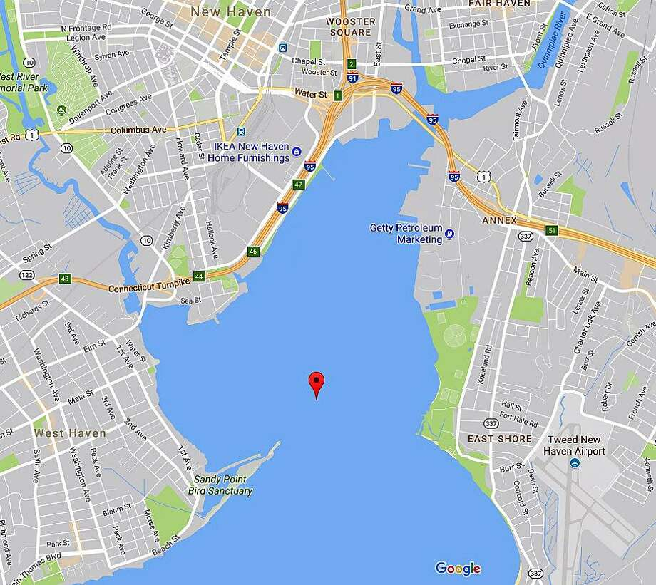 Two Fairfield men were killed in a boating accident on Long Island Sound on Sunday, Aug. 27. 2017 after a 32-boat struck a breakwater on the western side of New Haven Harbor. Killed in the accident were Michael Murphy, 53, and an unidentified 46-year-old Fairfield man. Photo: Google Maps