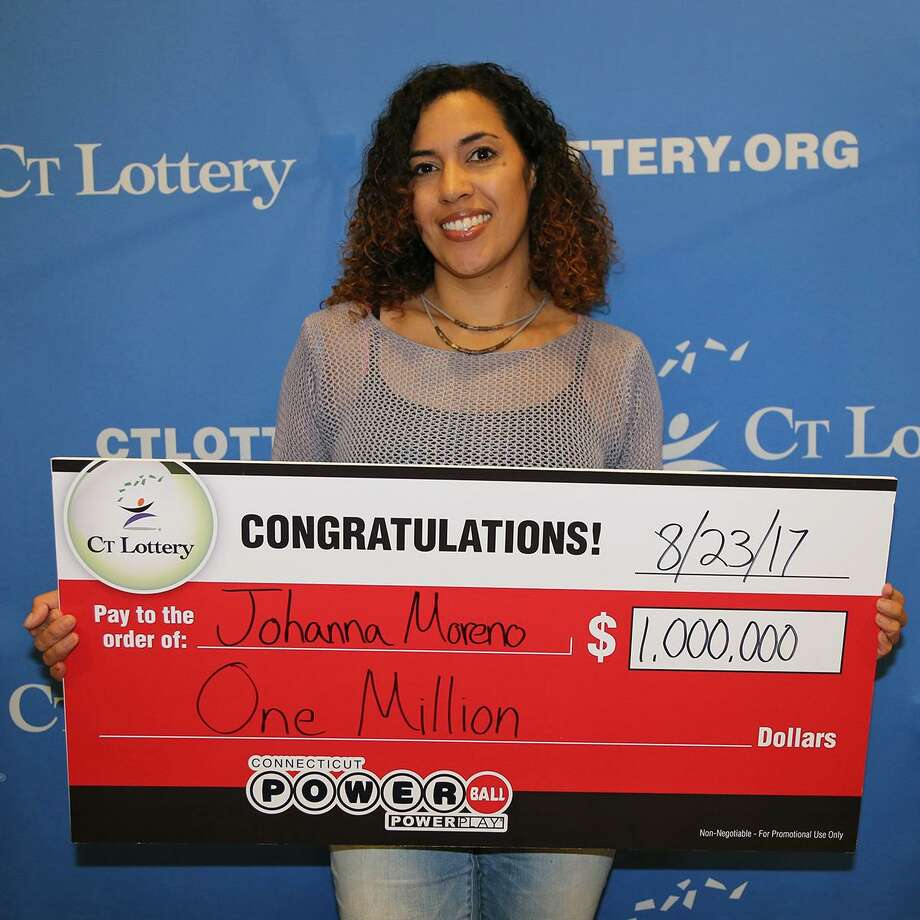 Johanna Moreno won $1 million in Powerball on Wednesday, Aug. 23, 2017 after matching five numbers. The Litchfield County resident bought the ticket North Elm Mobil on North Elm Street in Torrington. Photo: CT Lottery