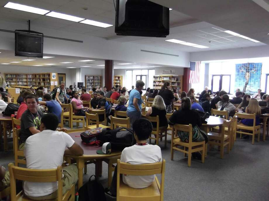 KAITLYN YEAGER/Register Citizen Torrington High School students attended a forum on the First Amendment Wednesday as part of Banned Books Week.