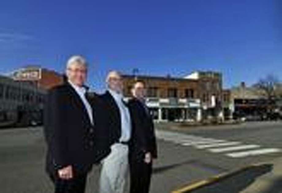 MIKE AGOGLIATI/Register Citizen Steven Roth, Steven Temkin and David Bender, founders of the Torrington Downtown Partners, are the Register Citizen's Persons of the Year.