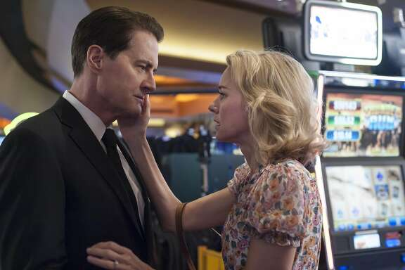 """Never can say goodbye: Kyle MacLachlan and Naomi Watts in a scene from Part 16 of Showtime's """"Twin Peaks: The Return."""""""