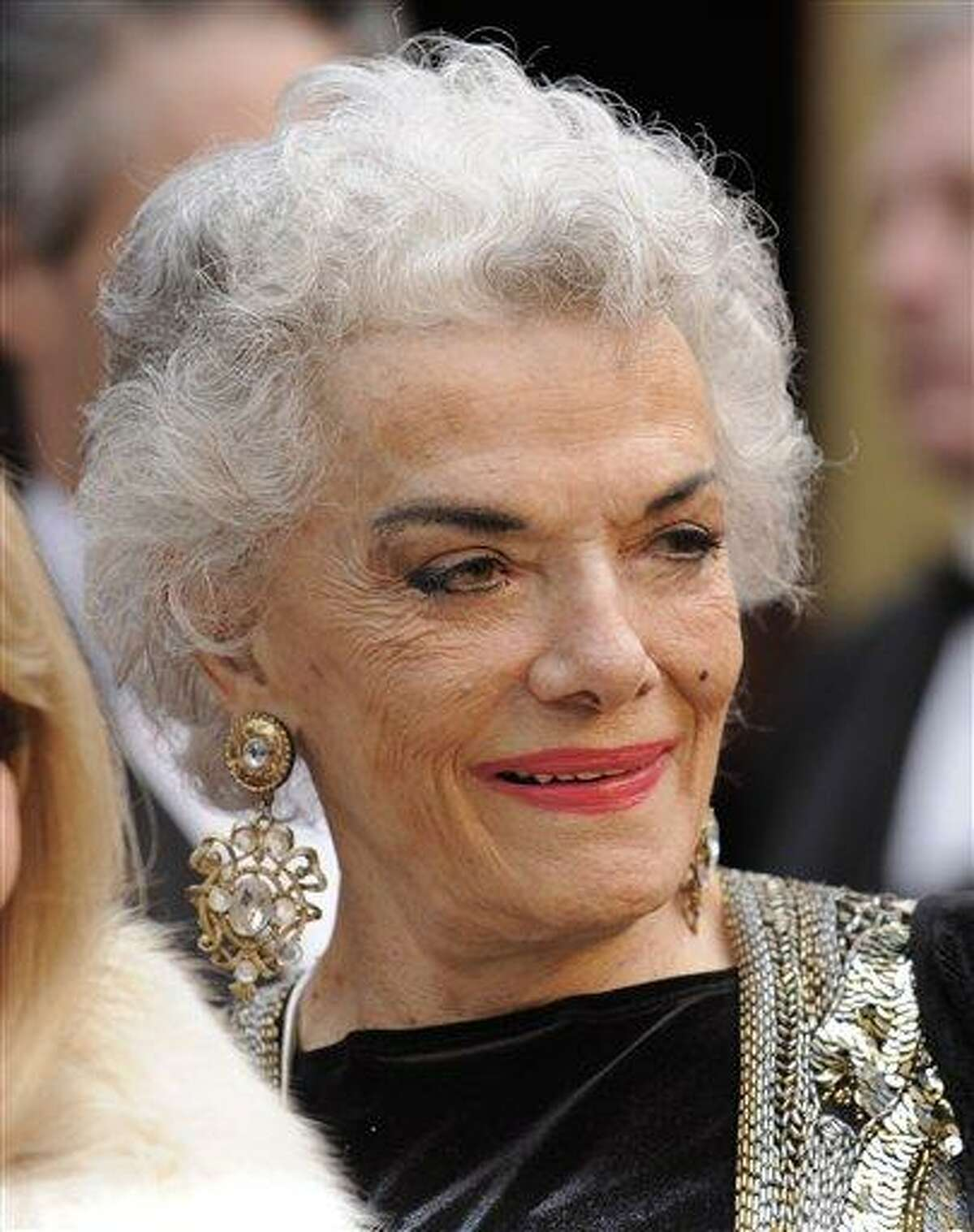 FILE - In this Feb. 24, 2008 file photo, actress Jane Russell arrives at the 80th Academy Awards at the Kodak Theatre in Los Angeles. A family member on Monday, Feb. 28, 2011 said Russell, stunning star of 1940s and 1950s films, has died at age 89. (AP Photo/Kevork Djansezian, File)