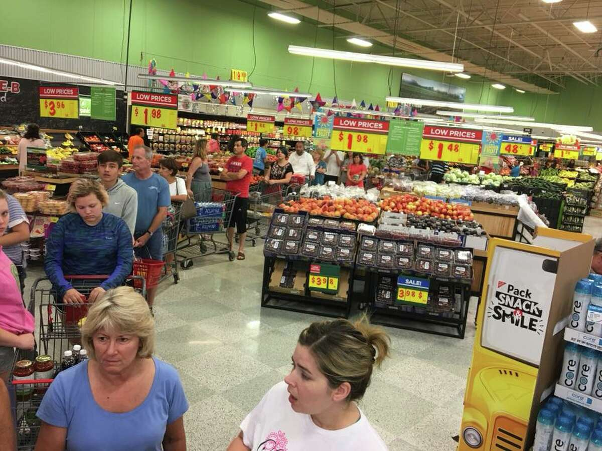Kevin Kujawa snapped photos from the H-E-B store located at Kempwood and Gessner, which opened Sunday, Aug. 27, 2017 not too long after Tropical Storm Harvey flooded most of the city of Houston.