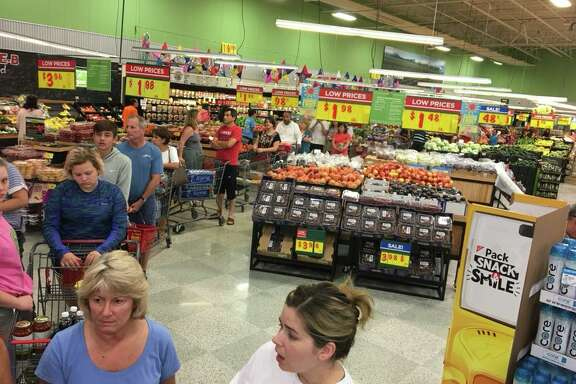 Kevin Kujawa‎ snapped photos from the H-E-B store located at Kempwood and Gessner, which opened Sunday, Aug. 27, 2017 not too long after Tropical Storm Harvey flooded most of the city of Houston.