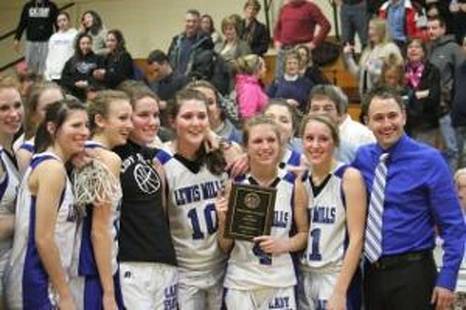 TIMOTHY W. GAFFNEY/Register Citizen The Lewis Mills girls basketball team has a tough road in its quest to capture the Class M State title.