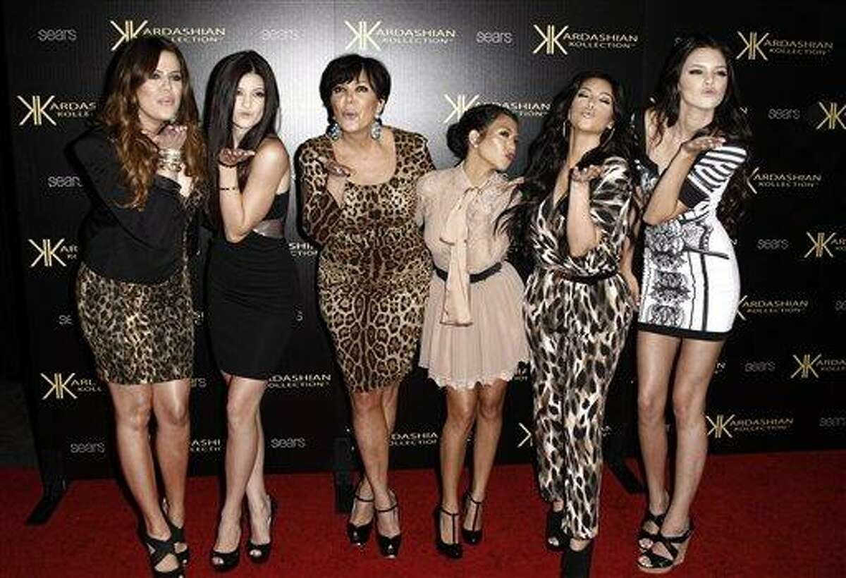 In this Aug. 17, 2011 file photo, from left, Khloe Kardashian, Kylie Jenner, Kris Jenner, Kourtney Kardashian, Kim Kardashian, and Kendall Jenner arrive at the Kardashian Kollection launch party in Los Angeles. The Kardashians will visit Oprah Winfrey when 'Oprah's Next Chapter' airs this Sunday, June 17 at 8p.m. EST on OWN.
