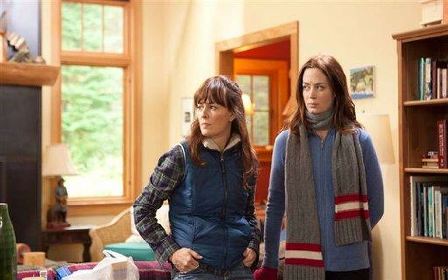 """This film image released by IFC Films shows Rosemarie DeWitt, left, and Emily Blunt in a scene from """"Your Sister's Sister."""" Photo: AP / IFC Films"""