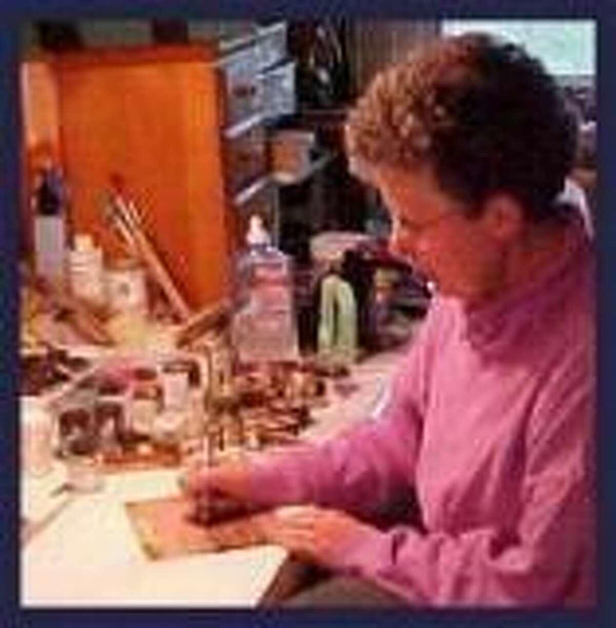 Lori Barker in her studio.