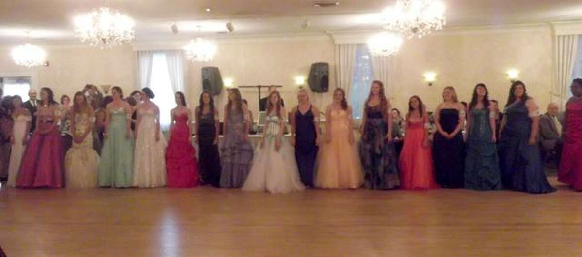 RICKY CAMPBELL/Register Citizen Winsted Laurel Queen contestants were introduced at Saturday night's Laurel Ball, held at the Cornucopia Banqueting Hall in Torrington.