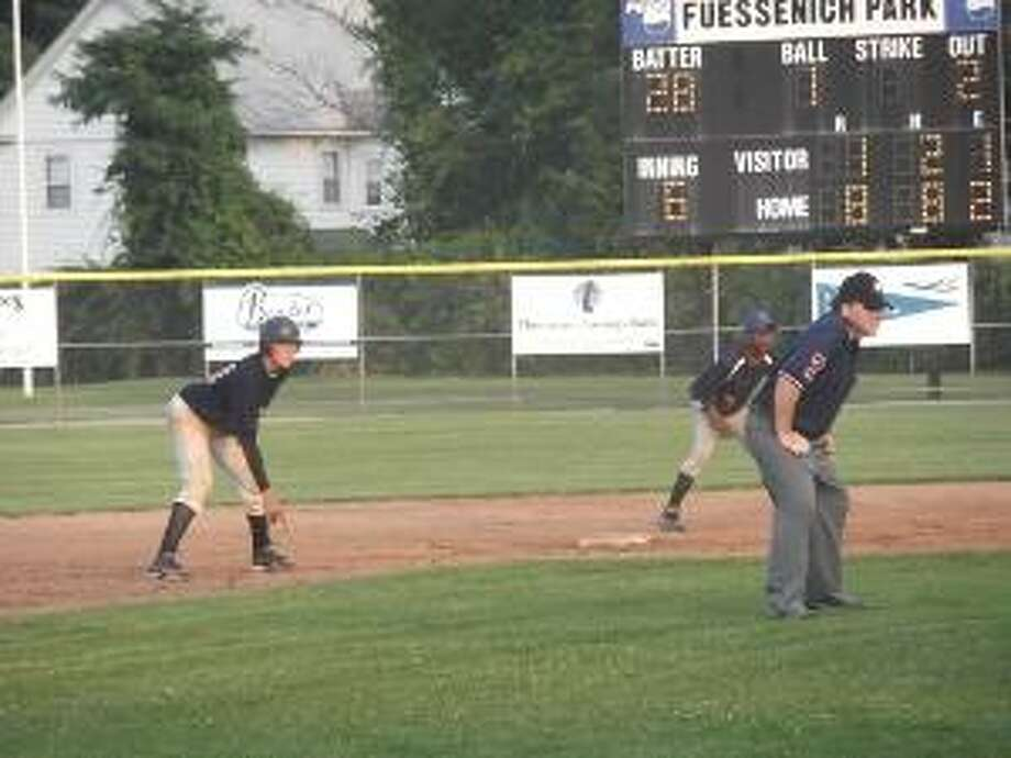 Register Citizen file art Cody Lemieux (leading off of second base) and Torrington Sports Palace are looking for another NWCT Connie Mack League, but there will be plenty of competition lurking throughout the league this summer.