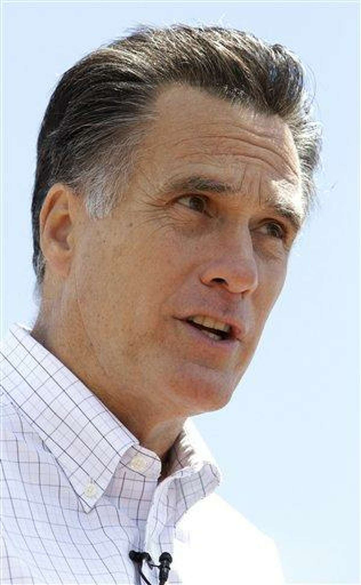 FILE In this June 2, 2011 photo, former Massachusetts Gov. Mitt Romney announces he is running for President of the United States,during a campaign event at Bittersweet Farm in Stratham, N.H. A gathering of religious conservatives drew nearly all the GOP presidential hopefuls to a single stage, a claim that a South Carolina debate and a well-publicized forum in New Hampshire couldn't make about their recent events. The Faith and Freedom Coalition's two-day conference proved that the religious right still plays a major role in the nominating process, even if it's less organized than during the Christian Coalition's heyday and economic issues are dominating the early campaign. (AP Photo/Stephan Savoia)