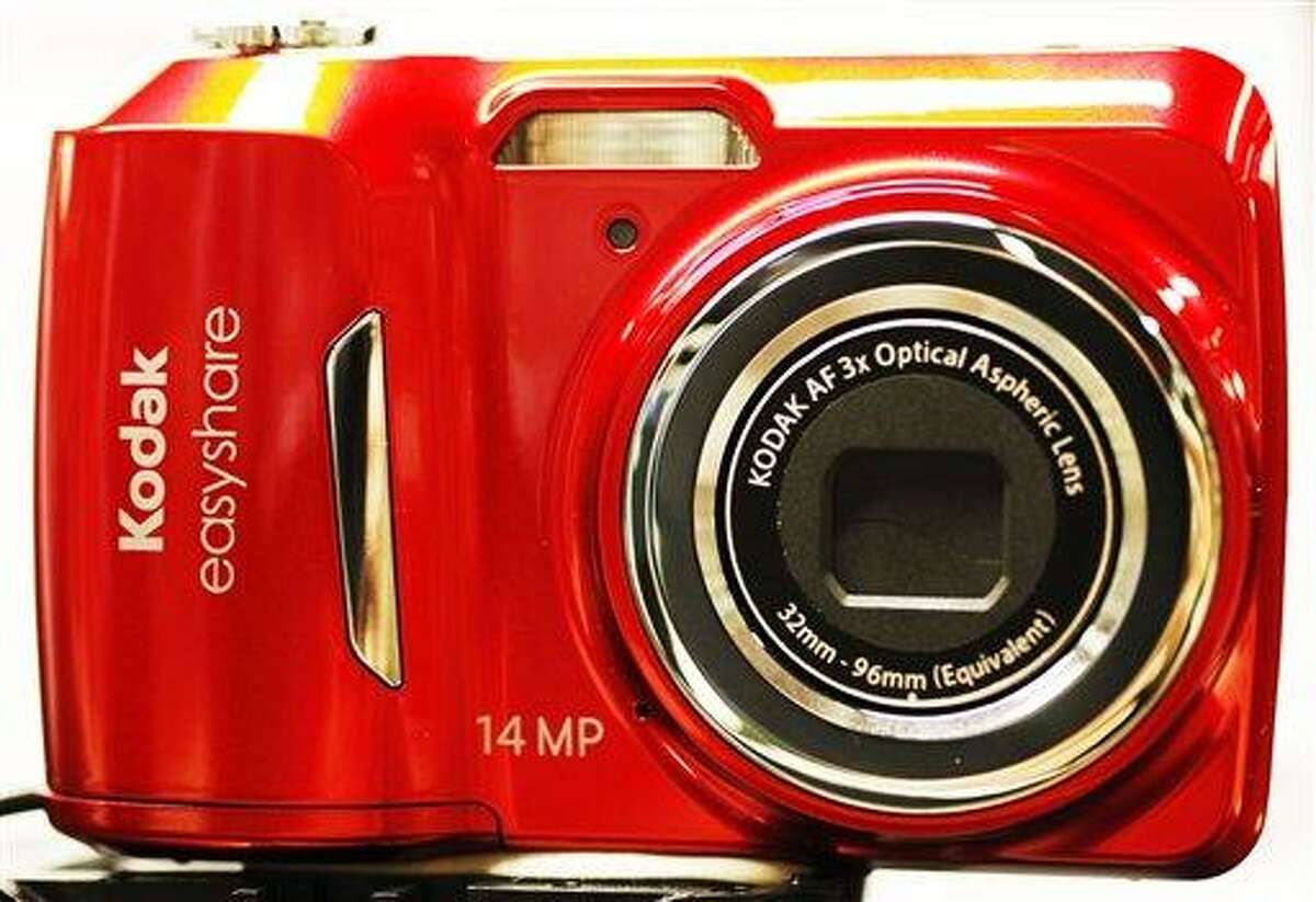 A Kodak Easyshare digital camera is displayed at B&H Photo & Video Jan. 5 in New York. Eastman Kodak Co. said Thursday it will stop making digital cameras, pocket video cameras and digital picture frames in order to focus on its more profitable businesses. Associated Press