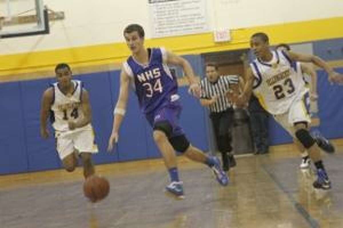 ARTHUR NAZARYAN/Register Citizen Collin Schneider and his Nonnewaug boys basketball teammates will be looking to add a Berkshire League tournament title to their regular season crown, but Gilbert and six other teams will try to have a say over the next week.