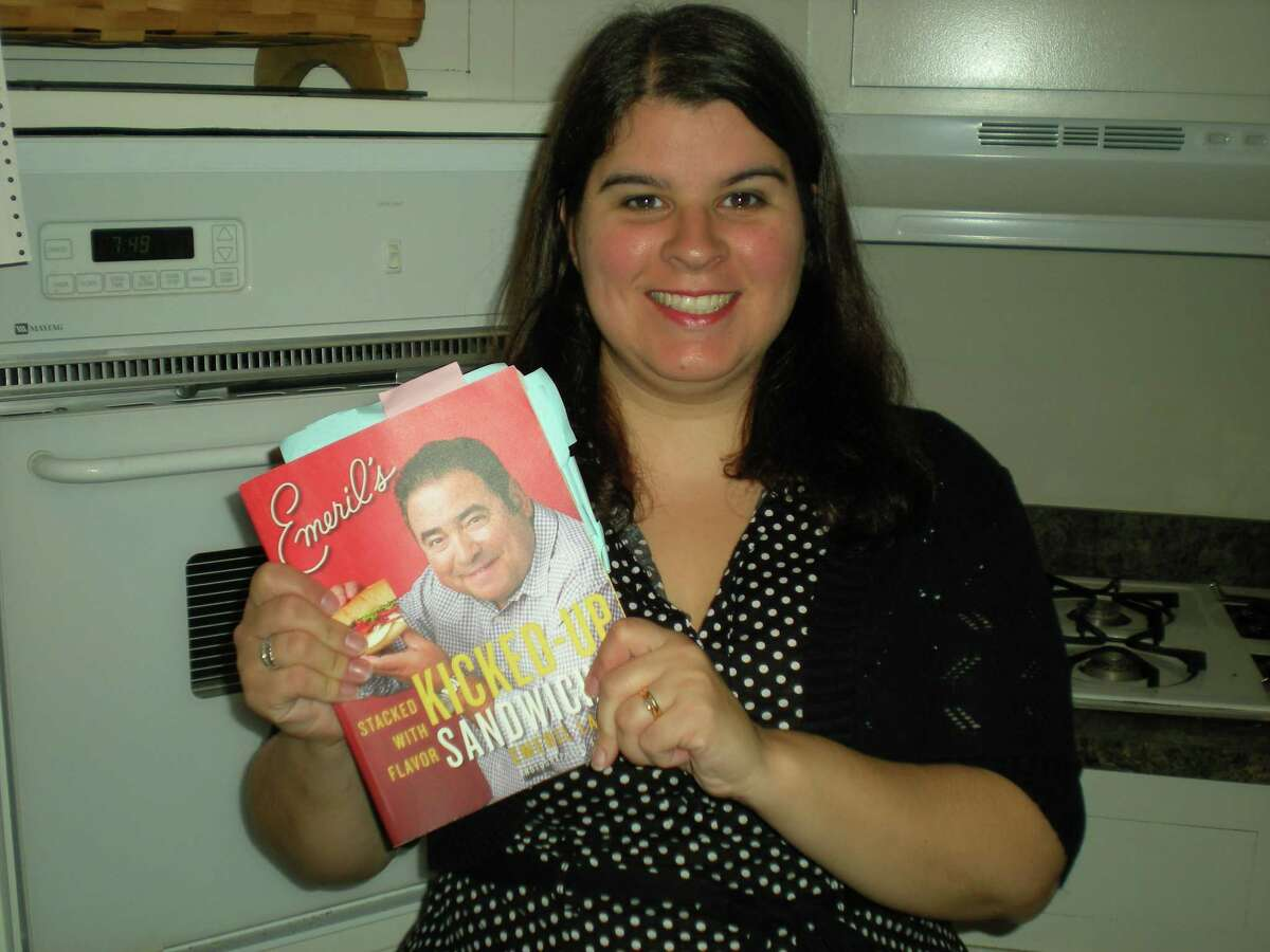 """Sarah Bogues/Register Citizen Carrie Vibert, Torrington's """"Poet in the Pantry"""" is joining 20 other cooking bloggers to create sandwiches for Emeril Lagasse's new cookbook, Kicked Up Sandwiches, due for release on Oct. 16."""