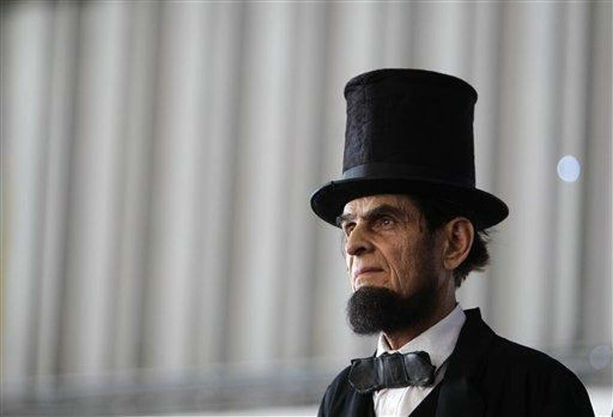 Actor Gerald Bestrom, dressed as Abraham Lincoln, attends a political function in January. Ford's Theatre has announced a plan to devote a museum and education center to the nation's 16th president. Associated Press