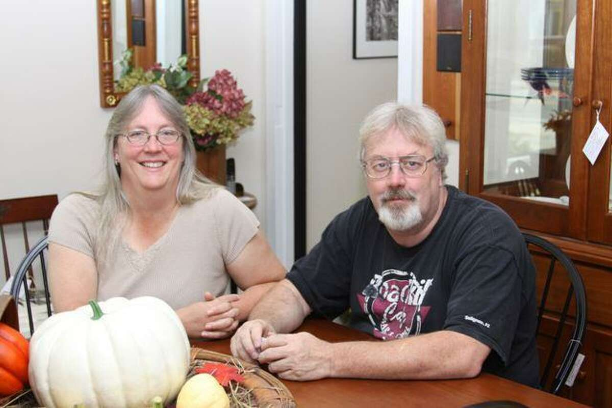 Nancy and Rick Swenson, co-owners with Gary and Maryanne Hath of Hitchcok Furniture in Riverton.