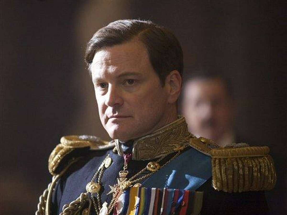 FILE - In this file film publicity image released by The Weinstein Company, Colin Firth portrays King George VI in