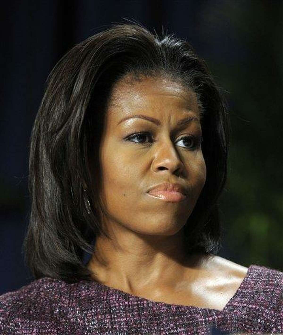 First Lady Michelle Obama attends the National Prayer Breakfast in Washington Thursday. Associated Press