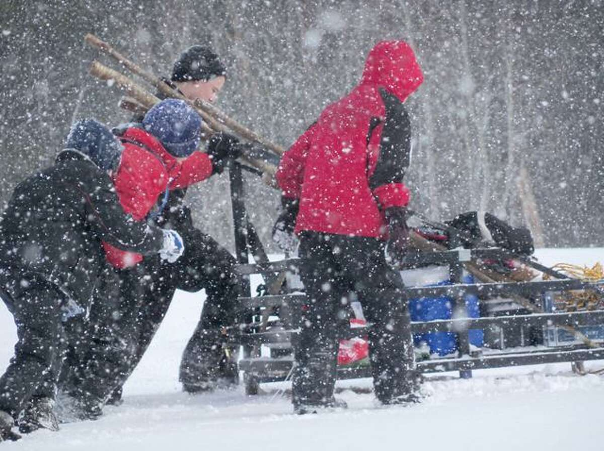 RICKY CAMPBELL/ Register CitizenIn the annual Klondike Derby, Boy Scouts from all over the region competed in outdoor survival and skill use Saturday morning. The event was held at White Memorial Foundation and attracted approximately 300 scouts.