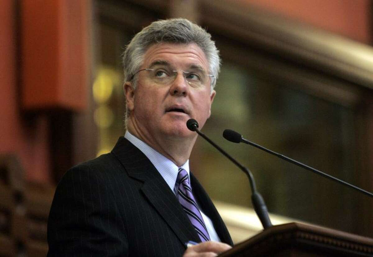 2009 File Photo: Chris Donovan at the state Capitol in Hartford, Conn. (AP Photo/Bob Child)