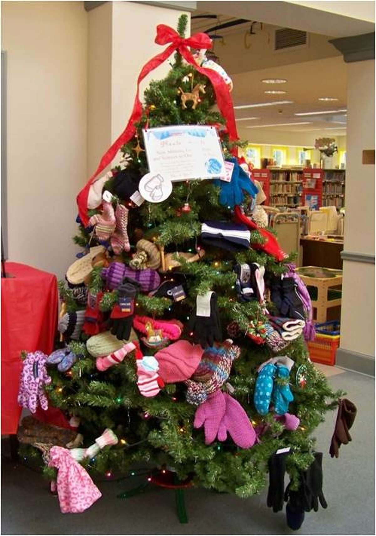 Submitted photo The Burlington Public Library is collecting donations for its mitten tree again this year.