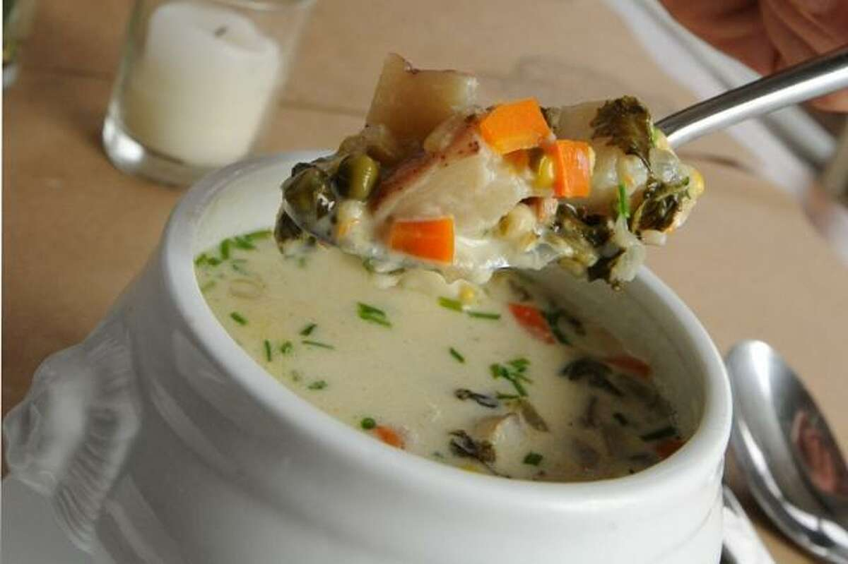 A hearty fish chowder from the Millstone Cafe in Kent.