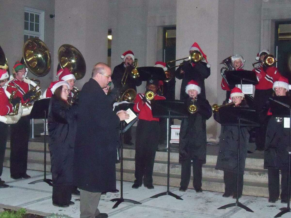 File photos The Torrington High School band performs at City Hall during the 2010 Light Up Main celebration.