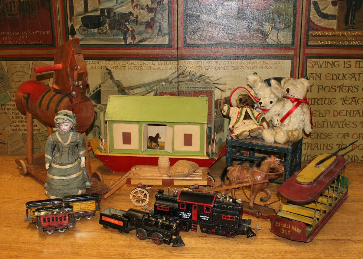 Submitted photo A collection of vintage toys are on display at the Mattatuck Museum in time for the holidays.