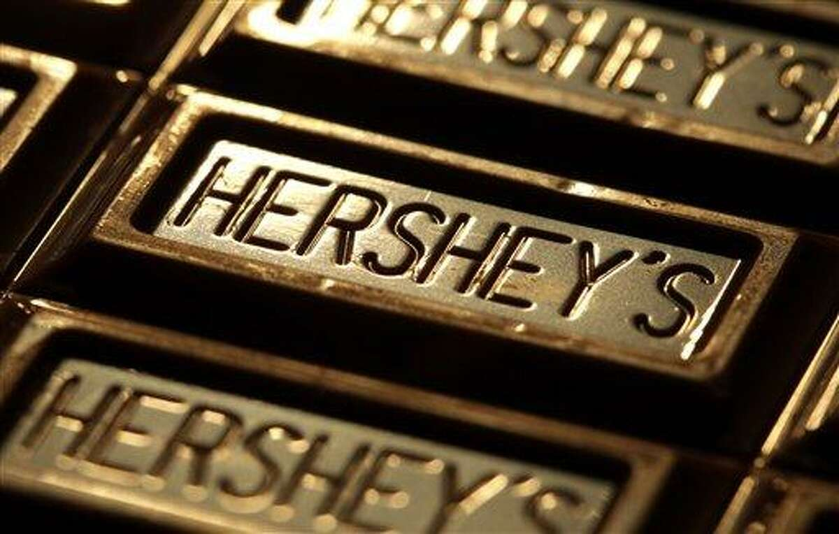 This July 25, 201,1 photo shows Hershey's chocolate in Overland Park, Kan. The Hershey Co. plans to invest $10 million in the Ivory Coast, a key source of cocoa. Associated Press