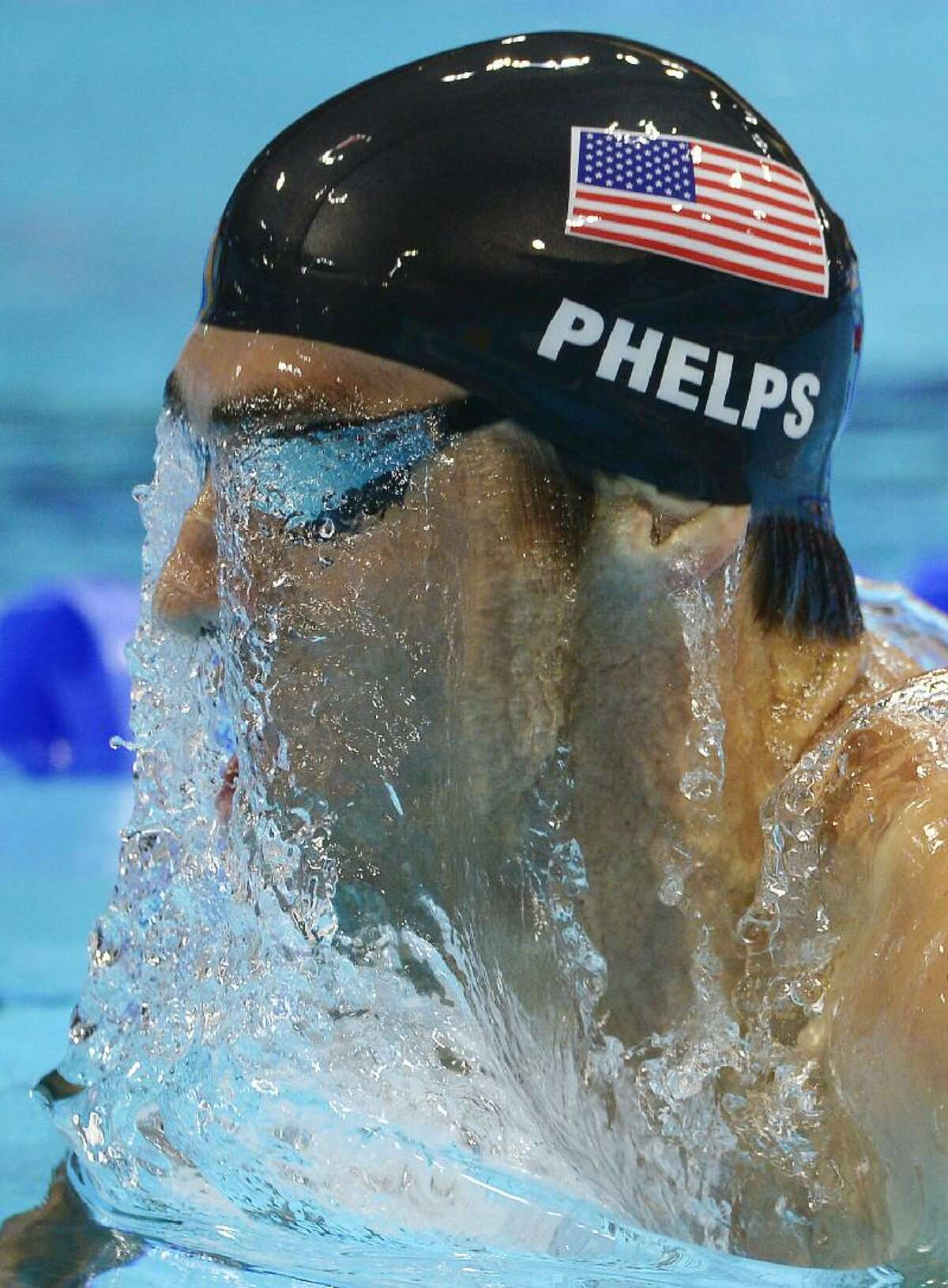 ASSOCIATED PRESS United States' Michael Phelps competes in the men's 400-meter individual medley swimming final at the Aquatics Centre in the Olympic Park during the 2012 Summer Olympics in London Saturday.