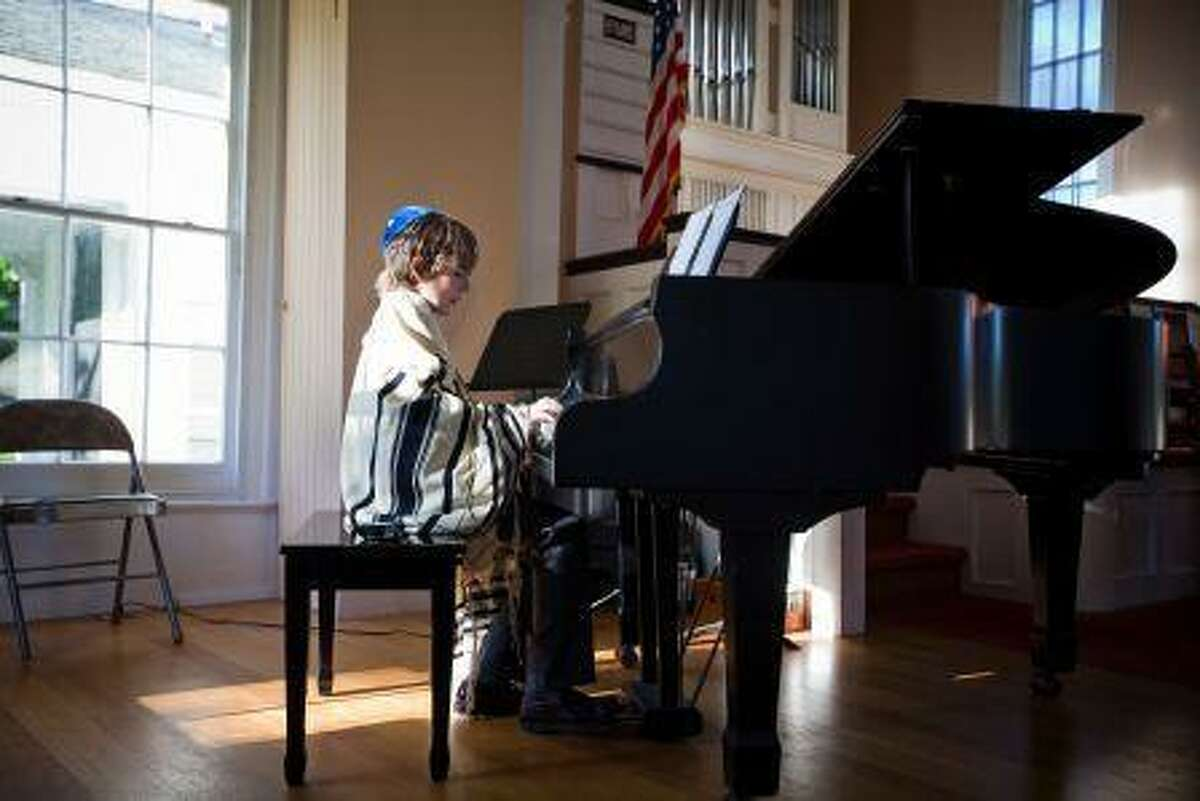 Jacob Maren at his Bar Mitzvah, which helped to raise funds for the Danbury chapter of the National Organization for Rare Disorders.