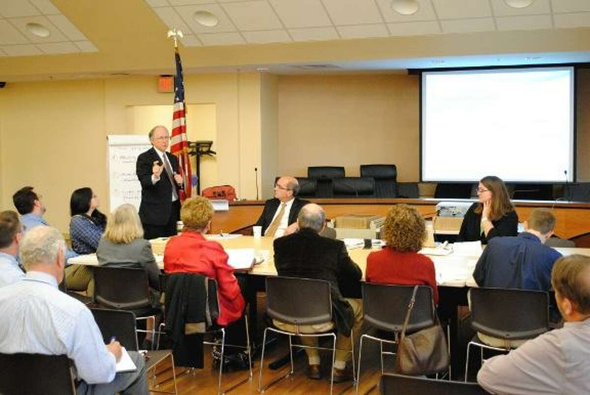 Consultants who looked at the examples of Easton, Pa., Peekskill, N.Y., and Pittsfield, Mass., present a study to Torrington city officials Monday morning suggesting that the city can use arts and culture to drive economic development and downtown revitalization. (MIKE AGOGLIATI/Register Citizen)