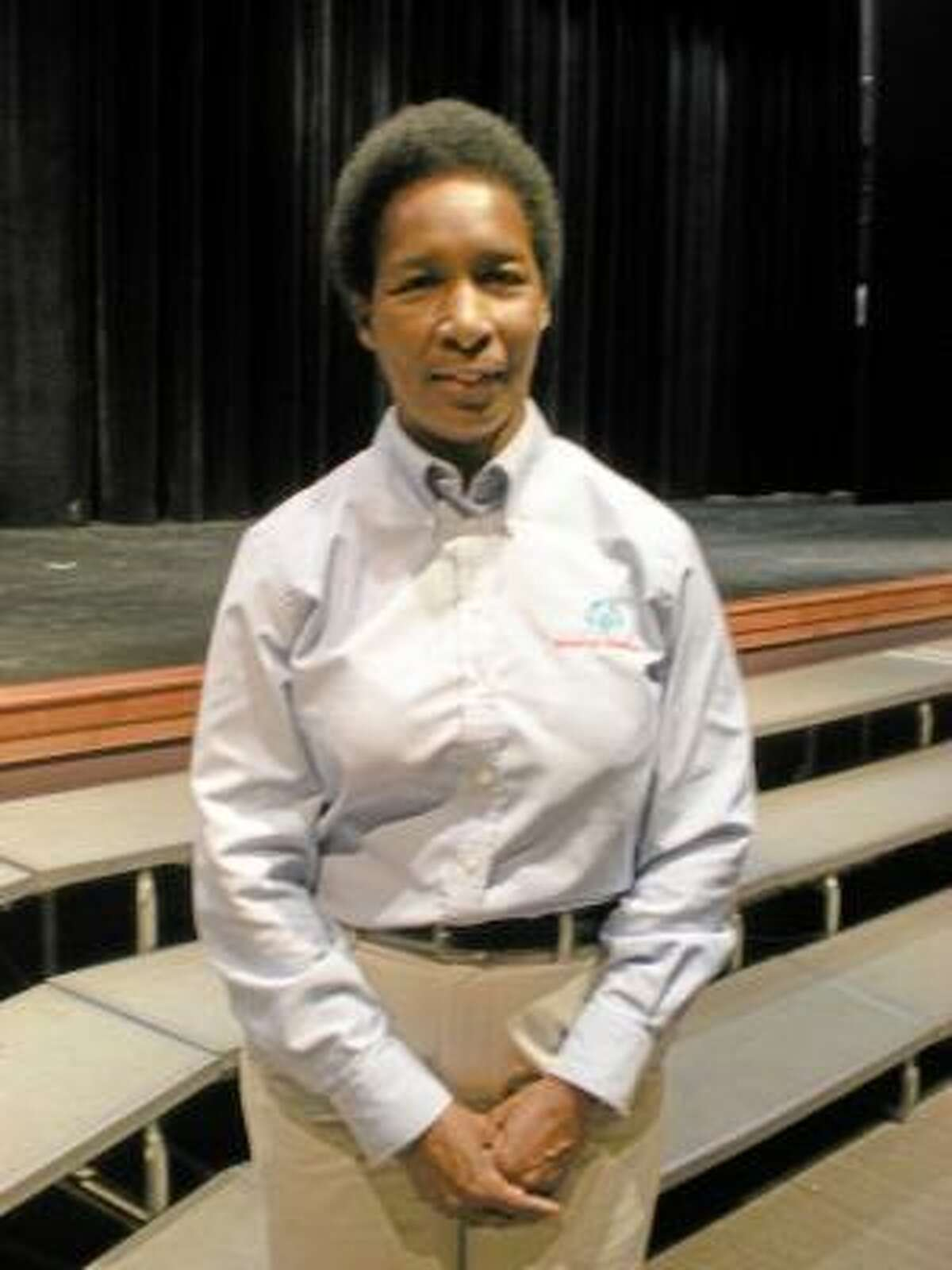 Photo by Daniela Forte Athlete and motivational speaker Loretta Claiborne visited Watertown High School on Monday.