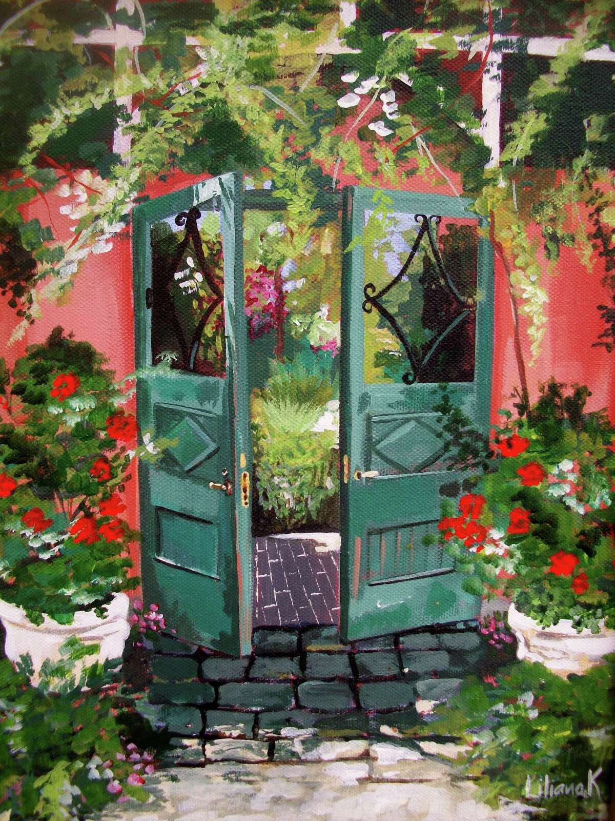 Submitted photo Paintings by Litchfield artist Liliana Kleid will be featured at the Oliver Wolcott Library gallery this month.