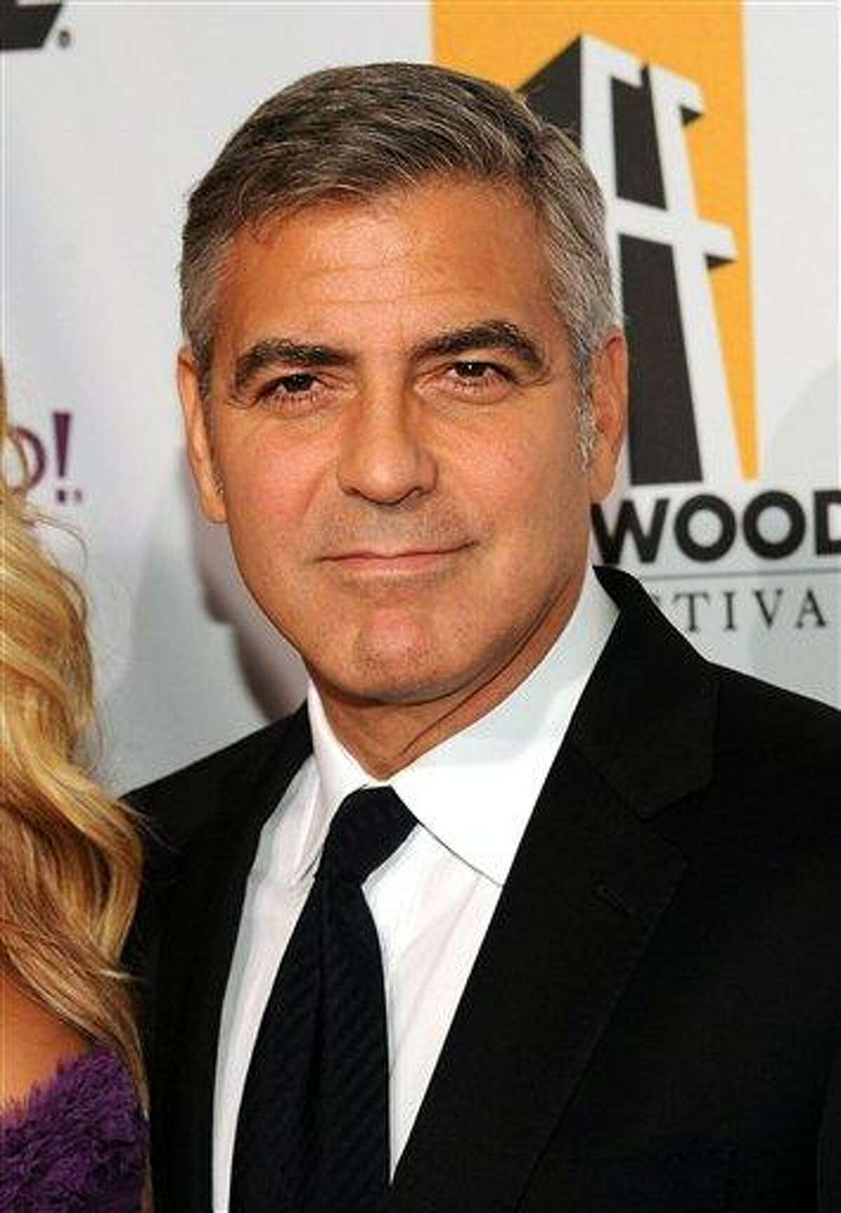 FILE - In this Oct. 24 file photo, actor George Clooney arrives at the 15th Annual Hollywood Film Awards Gala in Beverly Hills, Calif. (AP)
