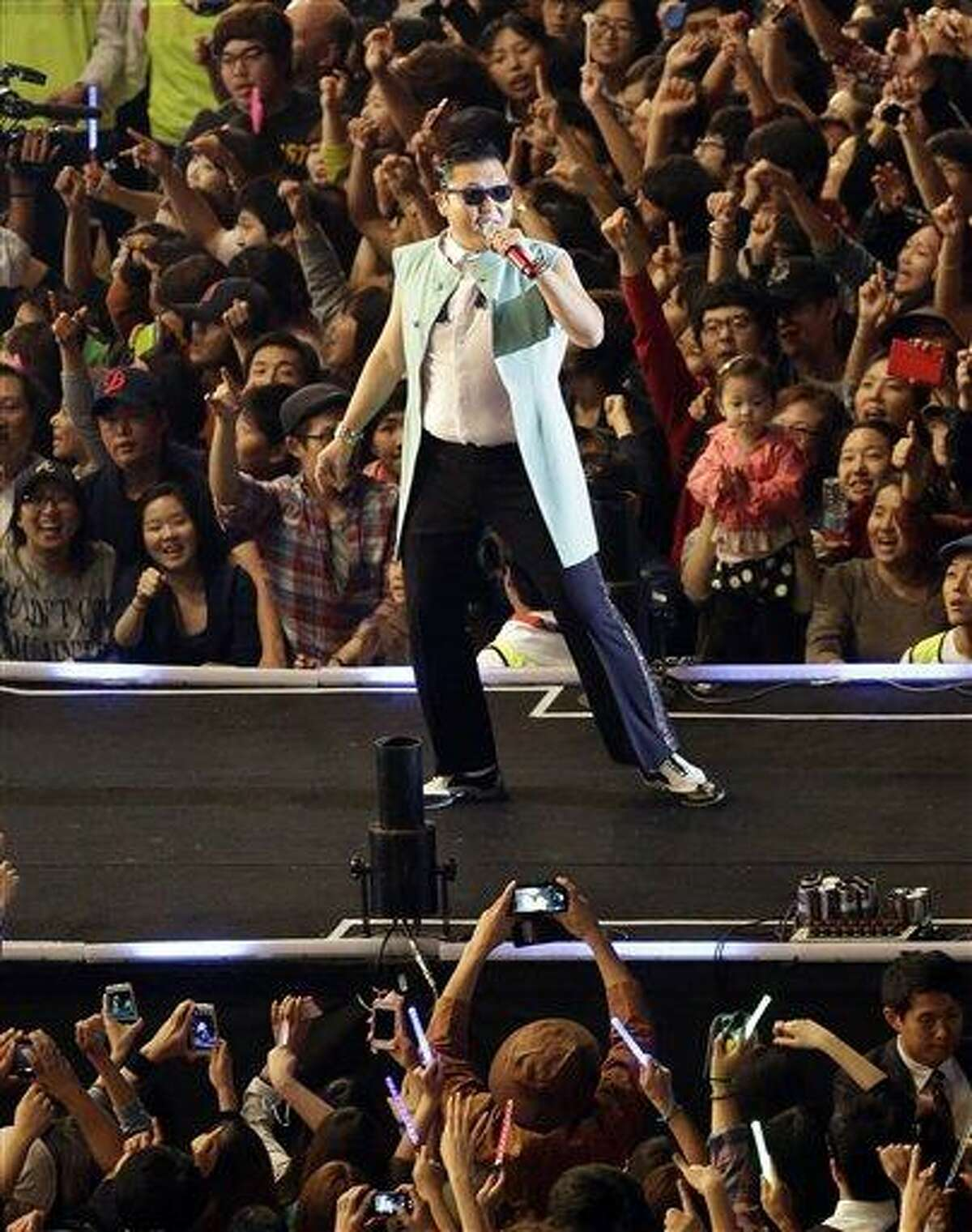 FILE - South Korean rapper PSY, who sings the popular