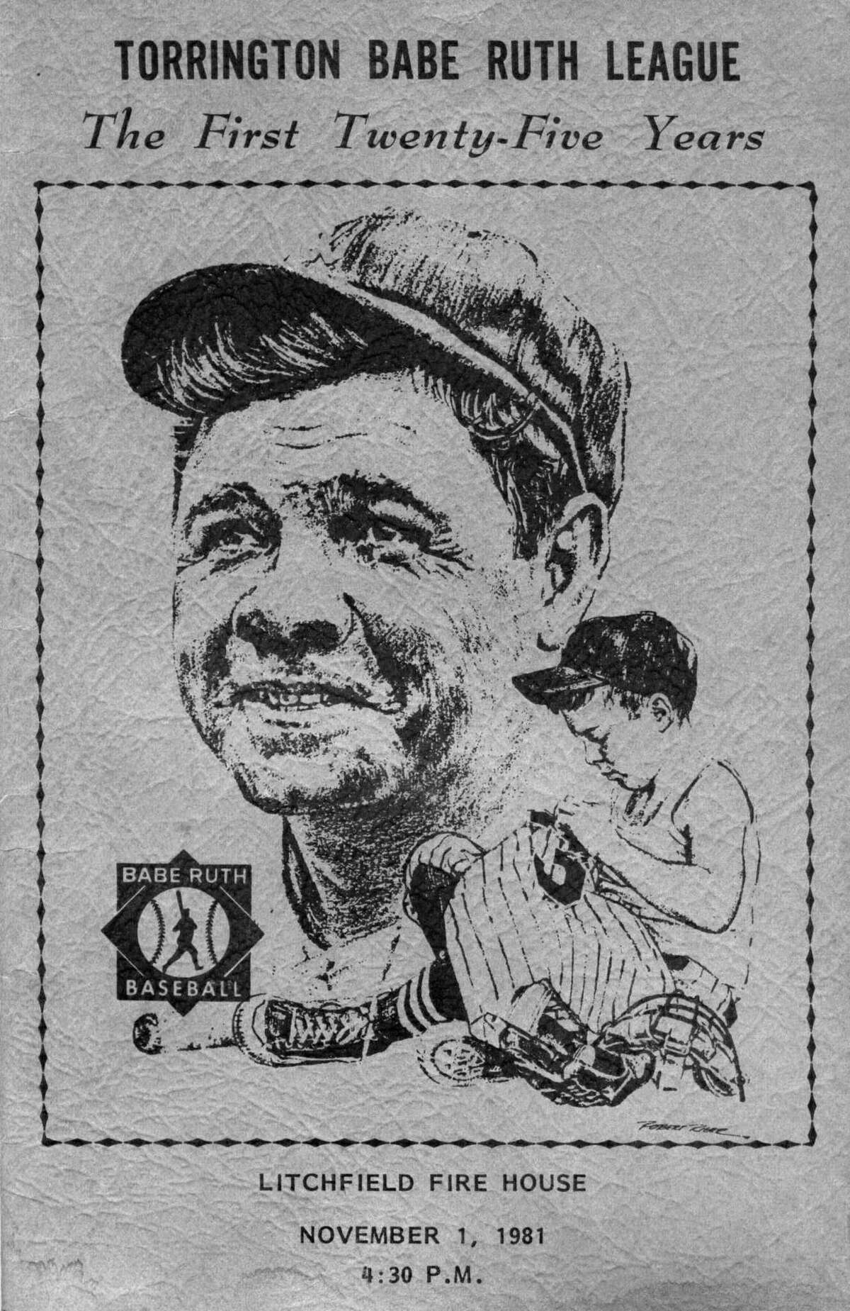 A program from the Babe Ruth League in Torrington, published in 1981.