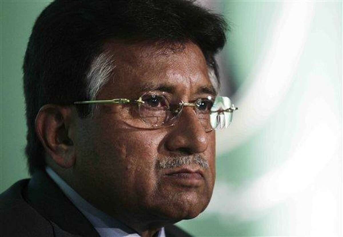FILE - Pervez Musharraf, the former President of Pakistan, talks during the launch of his new political party, the
