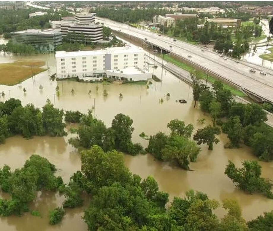 SLIDESHOW: Drone photos show Harvey's impact in Houston Drone footage captured by Aaron Benzel shows the high flood waters Hurricane Harvey brought to northwest Harris County.  Photo: Aaron Benzel