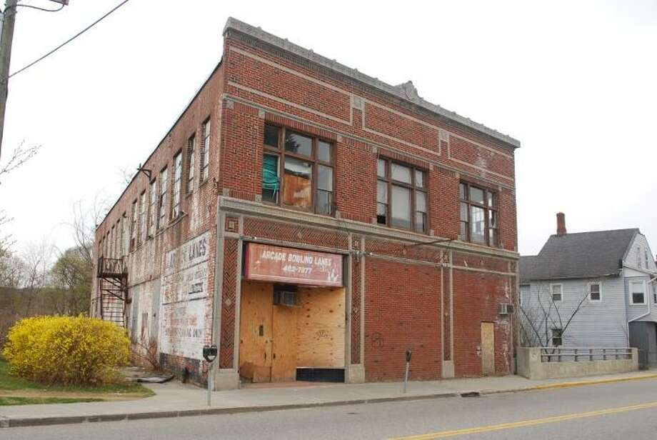FILE PHOTO The old Arcade building, a blighted property in Torrington.
