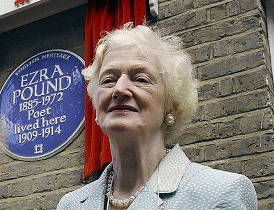 Valerie Elliot, widow of the late British poet T.S. Eliot, died at her London home after a short illness. AP Photo/Richard Lewis Photo: AP / AP
