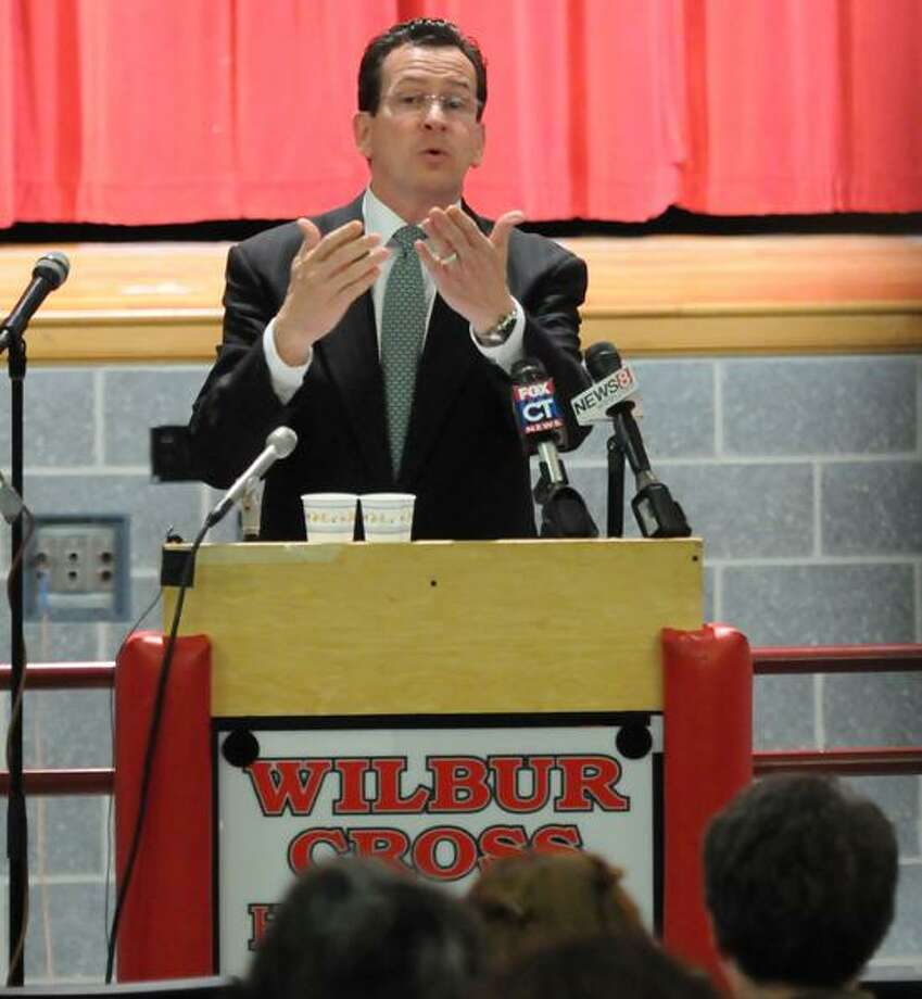 Wilbur Cross High School in New Haven was the site of a of a public forum on an education plan proposed by Gov. Dannel P. Malloy. Mara Lavitt/Register