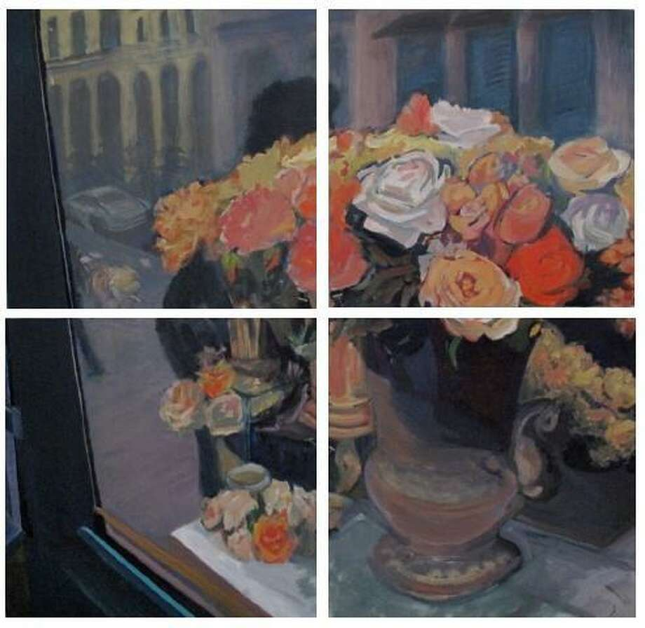 Submitted photo 'Paris Roses' by Lilly Woodworth is part of an upcoming exhibit at the Hunt Library in Falls Village.